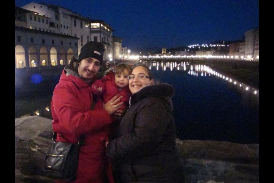 Cristian e Marianna con la piccola Ludovica