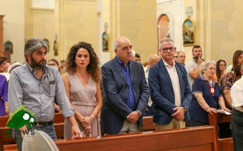 Le autorità politiche di Galatina presenti alla cerimonia religiosa