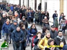 Galatina. Processione dell'Addolorata e del Cristo morto 2016