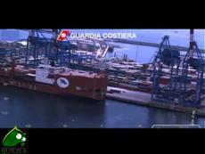 Genova.  Jolly Nero contro Torre di controllo, operazioni di soccorso