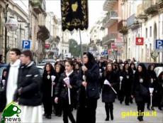 Galatina, processione dell'Addolorata. La partenza