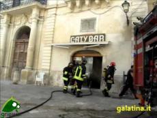 Galatina. Incendio al Caty Bar