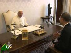 Papa Francesco riceve il Segretario Onu