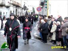 Galatina. Processione dell'Addolorata (Corso Re d'Italia, Piazzetta Lillo)
