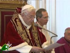 Benedetto XVI: rinuncio al ministero di Vescovo di Roma