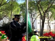 Galatina, Alzabandiera e deposizione corona d'alloro davanti al Monumento ai Caduti