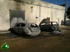 Auto incendiate in Largo Milano a Collemeto