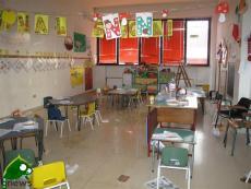 La scuola materna evacuata