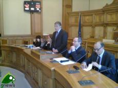 Antonio Gabellone con i magistrati