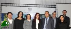 Da sinistra: Alessio Tundo, Federica Scorza, Rosalba Palazzo, Viola Margiotta, Piernicola Leone De Castris, Alessio Nisi, Giorgio Giangreco e Gabriella Morelli
